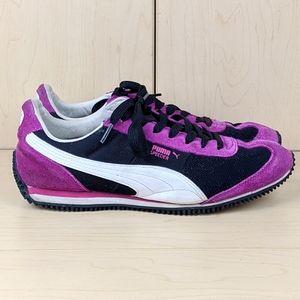 Puma | Purple Black Faux Suede Sneaker